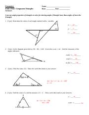 Key Unit 4 Test - Congruent Triangles Final Version (RY ...
