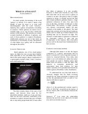 magazine article - what are galaxies made of