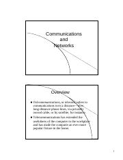 Communications and Networks (3)