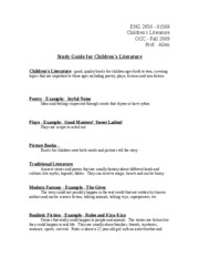Study Guide for Children