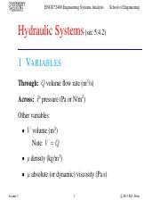 Lecture 3 - Sep.12.2013 - Hydraulic Systems