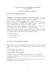 Practice Problems for Midterm I