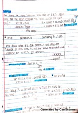 Accounting summary , monthly calculation lecture notes