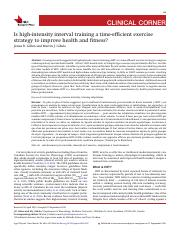 3.Is high-intensity interval training a time-efficient exercise