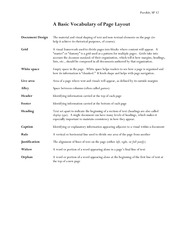 Vocabulary of Page Layout Notes