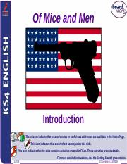 Of Mice and Men - Introduction and Section 1