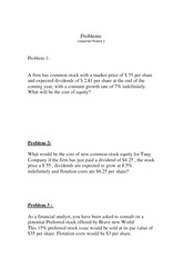 Problems- corporate finance 2