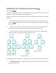 Databases for transaction processing.docx
