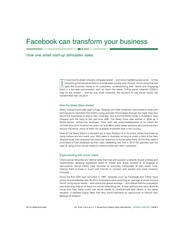 Facebook can transform your business