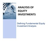 CNC1_Defining Fundamental Equity Investment Analysis and Research Project Guideline