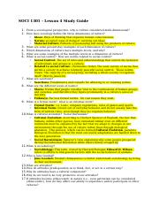 SOCI 1301 - Lesson 4 Study Guide.docx