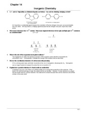 Chem 101 Book Answers (Ch.14)