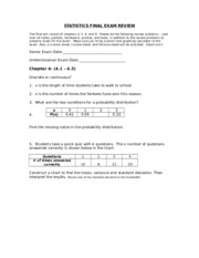 STATISTICS FINAL EXAM TOPICS AND REVIEW2010