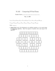 Final Exam Fall 2000 on Computing