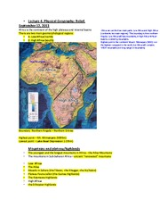 Lecture 4-Physical Geography, Relief