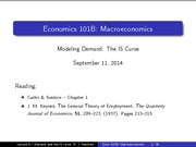 Lecture 05 - The IS Curve