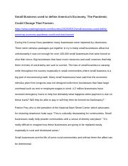 Small Businesses Close.docx