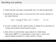 Markov Policy Iteration notes