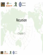 Chapter 05 - Recursion