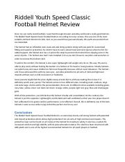 Riddell Youth Speed Classic Football Helmet Review.docx