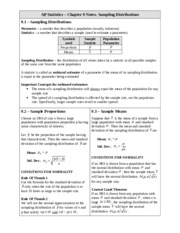 AP Statistics - Chapter 9 Notes