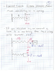 Physics 12 Simple Harmonic Motion Class Notes
