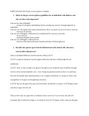 KINES 484 Fall 2015 Exam 2 essay question examples