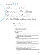 Appendix 12.C - Strategic Audit Example
