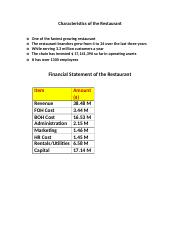 10583_Characteristics of the Restaurant