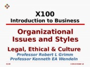 L08 Organizational Issues & Styles