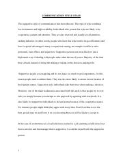 Communication Style Profile & Reflective Essay.doc