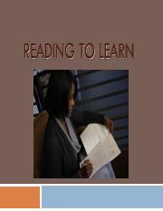 Chapter 06 - Reading To Learn_PPT