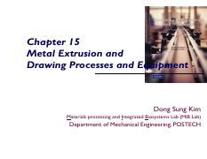 15-Materials Processing_Extrusion