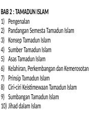 bab2 tamadun islam..power point