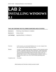 70-687 8.1 MLO Worksheet Lab 02