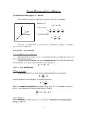 Classical Mechanics 60 pages