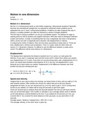 PY105(2): Motion in one Dimension
