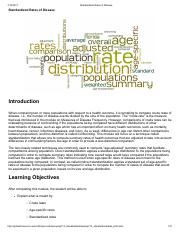 Epidemiology.Standardized Rates of Disease or death calculation.pdf