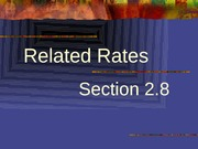 2.8 Related Rates