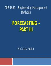 CEE 5930 -- Forecasting Part 3 - Fall 2016.pptx