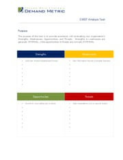 SWOT Internal Analysis Tool