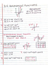 Polynomial Function Assignment