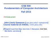 cse530-Introduction