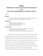 SPHE 420 Exercise Programming and testing NASM CHAP 5-7 Adaptations to Anaerobic and Aerobic Trainin