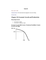 Economic Growth and Productivity