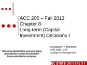 #12 CH8 FLIP CLASS ONE MOODLE ACC200 LTC Invest - Fall 2013