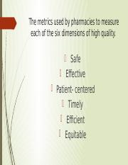 The metrics used by pharmacies to measure each.pptx