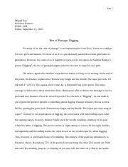 Science Essay  Pages Essay  Health Needs Assessment Essay also Persuasive Essay Thesis Statement Examples Digging   Analysis Of Digging By Seamus Heaney In His Poem Digging  Advanced English Essays