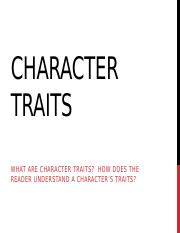 Character Traits and _If the Truth Be Told_ (1).pptx