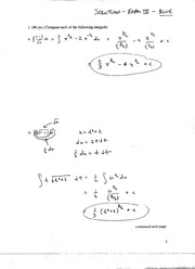 Solutions to Exam 3 (Blue Version) Ma123, F05